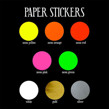 70 red neon sticker circle sticker paper circle label round l
