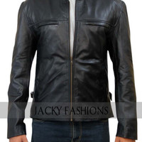 New Aaron Taylor Johnson Godzilla Real Leather Jacket + FREE GIFT INCLUDED