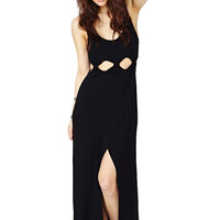 Black Cut Out Bodycon Sleeveless Dress