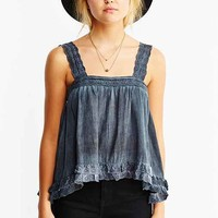 Thistlepearl Cotton Eyelet Strap Tank Top-