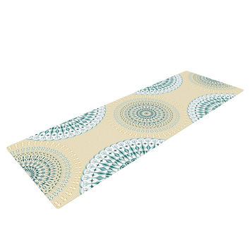 "Julia Grifol ""Soft Mandalas"" Green Yellow Yoga Mat"