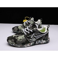 OFF-White X Nike Air Roshe One Camo Army Green Running Shoes