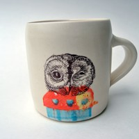 Winking Owl Printed Mug | BRIKA - A Well-Crafted Life