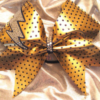 Strike of SPARKLE Cheer Bow by GlitterGirlBows on Etsy