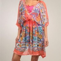 Goa Multicolor Sequin Trimmed Dress - GOA Summer Apparel for Her - Modnique.com