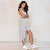 Irregular Draped Tank Dress