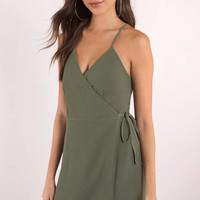 Maria Cross Front Wrap Dress