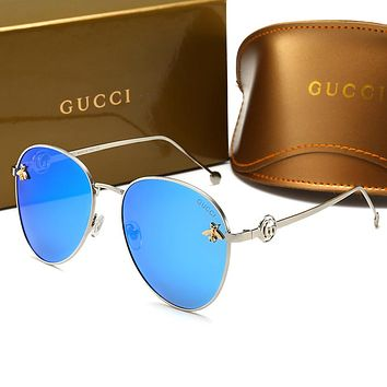 GUCCI Trending Woman Men Stylish Bee Summer Sun Shades Eyeglasses Glasses Sunglasses Blue