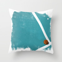 Tennis Throw Pillow by Matt Irving