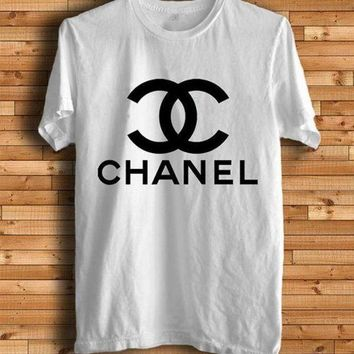 CHANEL Sport Letters Print Sport Shirt Top Tee