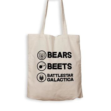 DCCK Bears. Beets. Battlestar Galactica. - Tote Bag