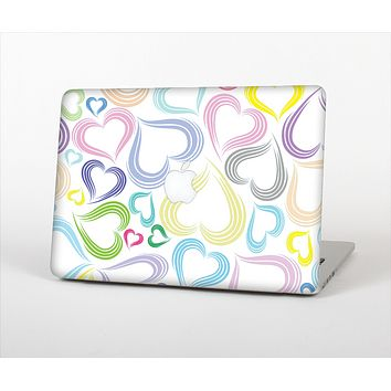 "The Pastel Color Vector Heart Pattern Skin Set for the Apple MacBook Pro 13"" with Retina Display"