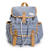 Empyre Girls Emily Navy Stripe Rucksack Backpack