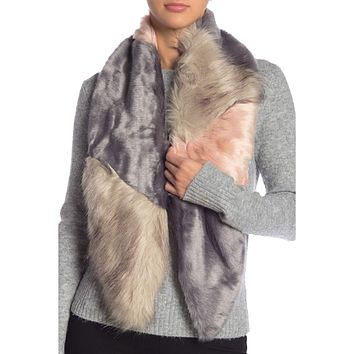 Faux Real Fur Stole
