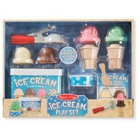 Melissa & Doug® Scoop and Stack Ice Cream Cone Magnetic Pretend Play Set