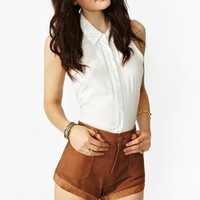 Sailors Leather Shorts