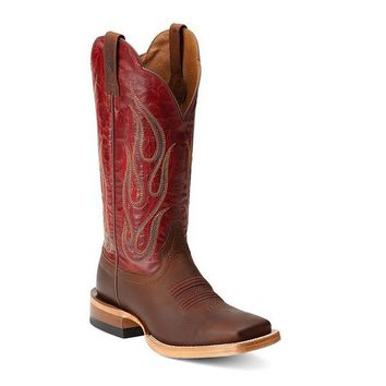 Corral Women's Sand/Red Turquoise Side from Country Outfitter