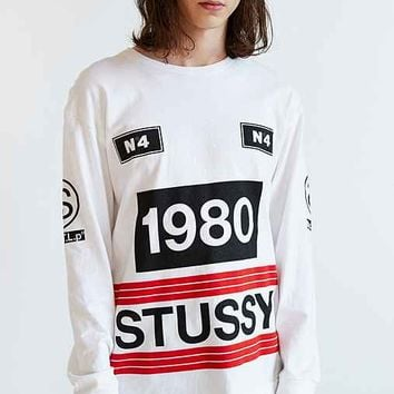 Stussy 1980 Stripe Long-Sleeve Tee