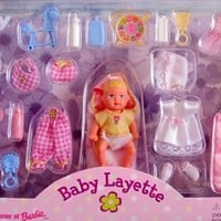 Barbie KRISSY BABY LAYETTE Doll & Accessories Set (1999)