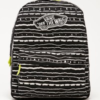 Vans Realm Black & Sulphur School Backpack - Womens Backpack - Black - One