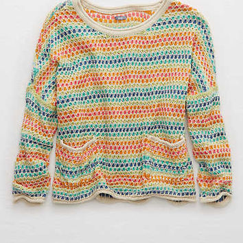 Aerie Breezy Pullover Sweater , Multi