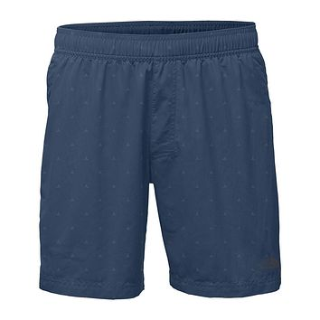 "Men's 7"" Class V Pull-On Trunks in Shady Blue Tent Print by The North Face"