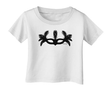 Masquerade Mask Silhouette Infant T-Shirt by TooLoud