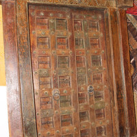 Conscious Design Antique Solid Wood Main Doors With Frame Vintage Teak Wood Double Door Hand Carved Exterior Design For Home