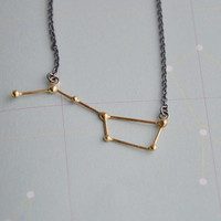 Ursa Major / Big dipper necklace 18k goldplated and by Twinklebird