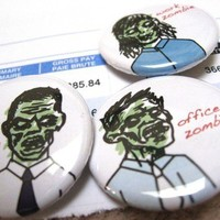 I AM A CORPORATE ZOMBIE 125 inch button pack by zomb on Etsy