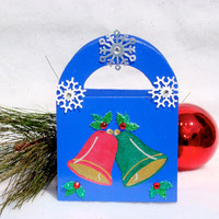 Hand Painted Christmas Gift Card Holder