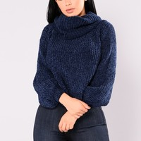 Juniper Oversized Sweater - Navy