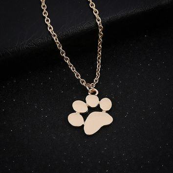Dog paws small pendant clavicle necklace Women Necklace Jewelry