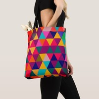 Multi color Geometric triangle shapes texture Tote Bag