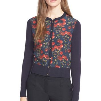 Women's Ted Baker London 'Perl' Cherry Print Cardigan,