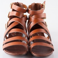 Strappy and Happy Strap Sandals - Tan from Casual & Day at Lucky 21