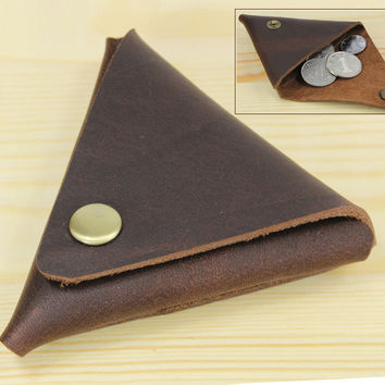 Handmade Vintage Genuine Leather Coin purse small Coin Bag  Coin holder Creative Lovely Wallet little gift