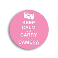 STICKER023 Keep Calm And Carry A Camera Photography Sticker