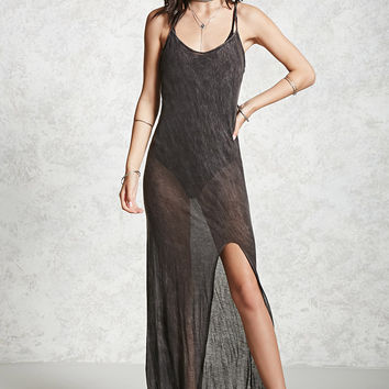 Sheer Slit Maxi Dress