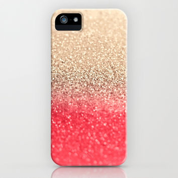 *** GATSBY CORAL GOLD ***  iPhone & iPod Case by Monika Strigel *** New Gatsby Design !!! *** Spring Color Coral ***