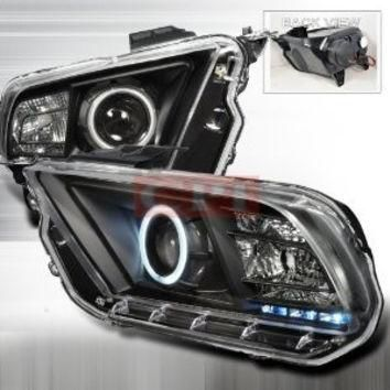 FORD 10-UP FORD MUSTANG CCFL PROJECTOR HEADLIGHTS/ HEAD LAMP /LIGHT. BLACK performance