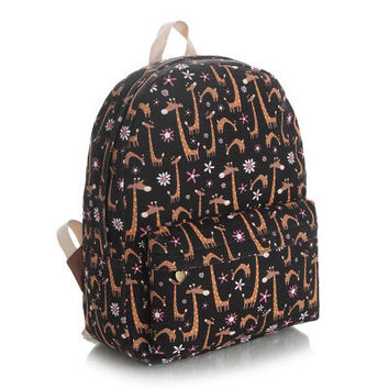 Cute Canvas Lovely Korean Backpack = 4887584388