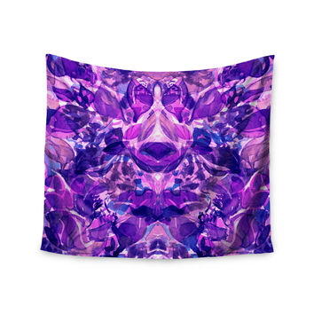"""Ebi Emporium """"Enchanted Forest 8"""" Purple Pink Wall Tapestry"""