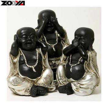 ZOOYA 5D DIY diamond embroidery three Laughing Buddha diamond painting Cross Stitch full square Rhinestone mosaic decoration
