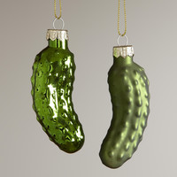 Glass  Pickle Ornaments,  Set of 2 - World Market