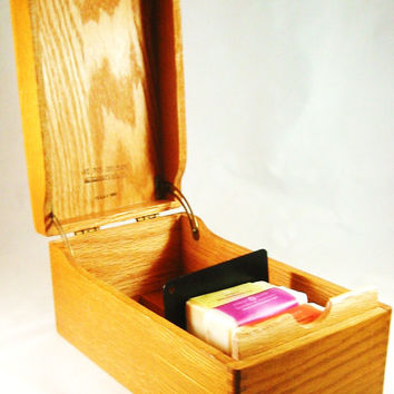 Wood Box Dovetailed High Quality 1960s TREASURE BOX Solid