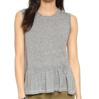 The Sleeveless Ruffle Tee