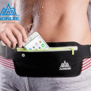 AONIJIE Running Belt Sport Bag Water Resistant Waist Pack Outdoor Jogging Marathon Trail Racing Training For Men Women