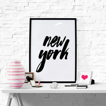 New York Print New York Poster Wall Art City Print City Poster New York City Decor Printable Wall Decoration Instant Download Digital Art