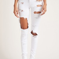 Distressed High-Rise Jeans